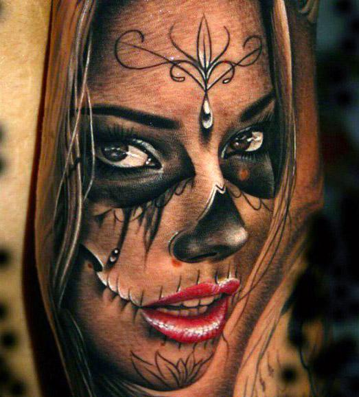 Top 10 realistic girl tattoos tattooties for Best realistic tattoo artists